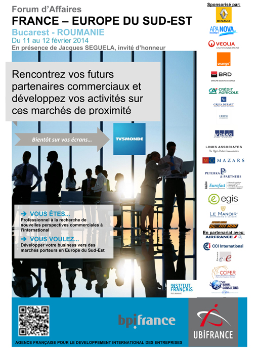 Forumul de afaceri Franţa - Europa de Sud-Est